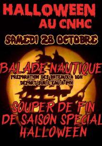 CNHC : Ballade d'Halloween en bateaux fantômes et souper de fermeture